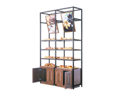 17TE-MB-C铁艺单边面包柜