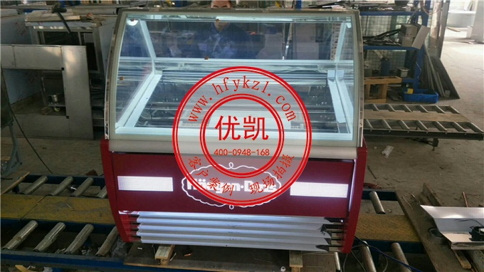 优凯冰淇淋展示柜车间图