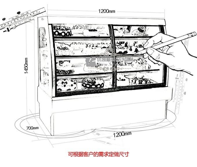DG-D型欧式前移门蛋糕柜