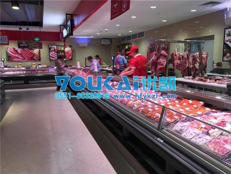 广东深圳冷鲜肉柜案例